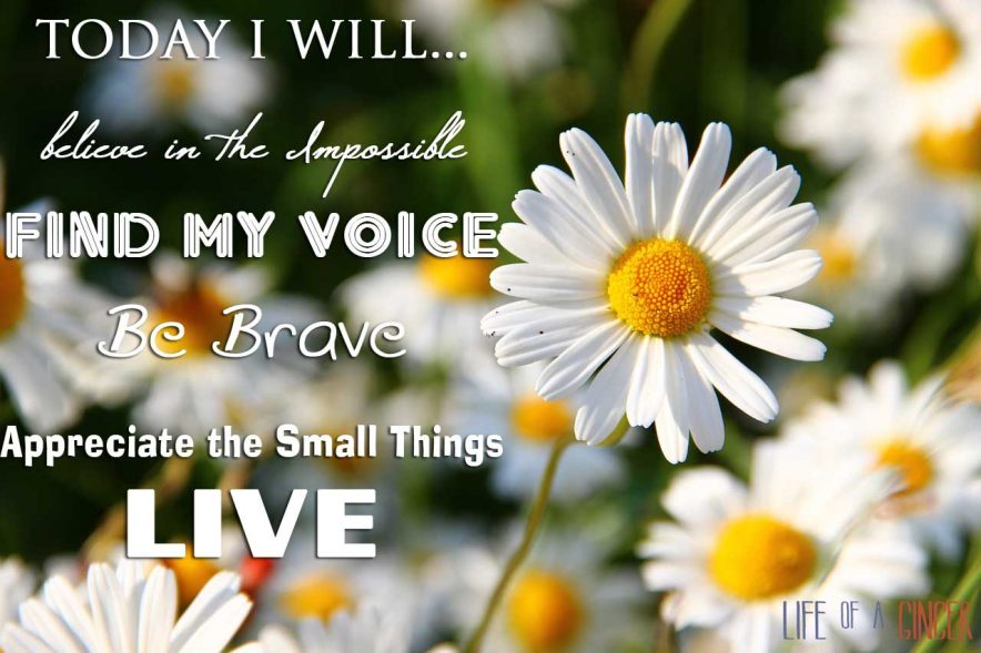 TODAY I WILL... Believe in the Impossible, Find My Voice, Be Brave