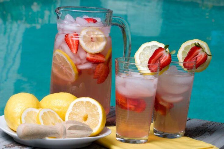 Summer Shandy Strawberry Lemonade Punch