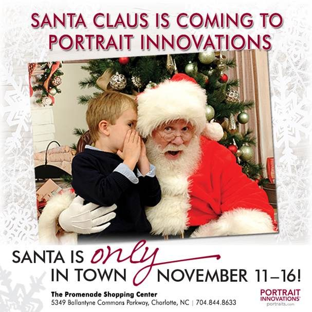 Santa Claus is Coming to Portrait Innovations November 11