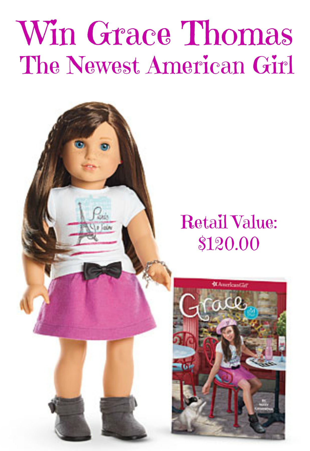 American Girl Doll Giveaway (Grace Thomas and her book)