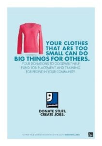 Goodwill. Donate Stuff. Create Jobs.