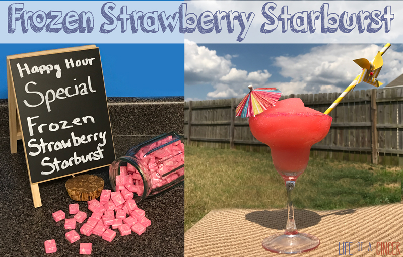 Frozen Strawberry Starburst - Life of a Ginger