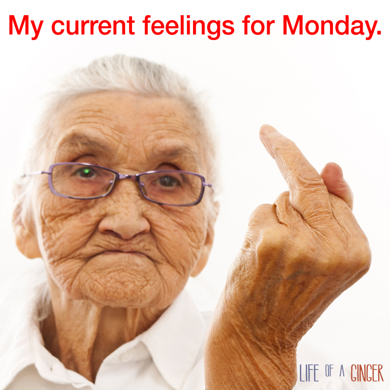 My current feelings for Monday.