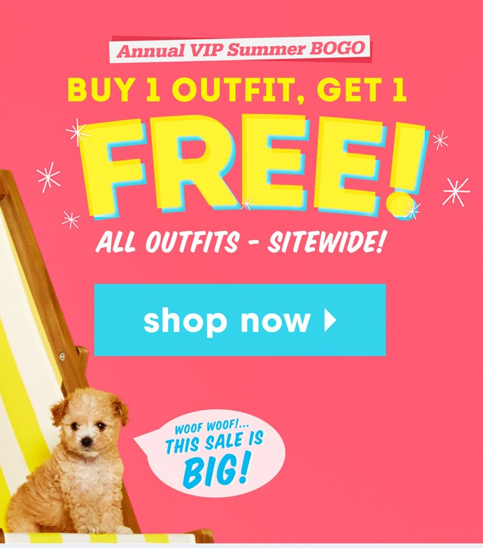 Fabkids.com Buy one outfit, get one free, plus FREE shipping