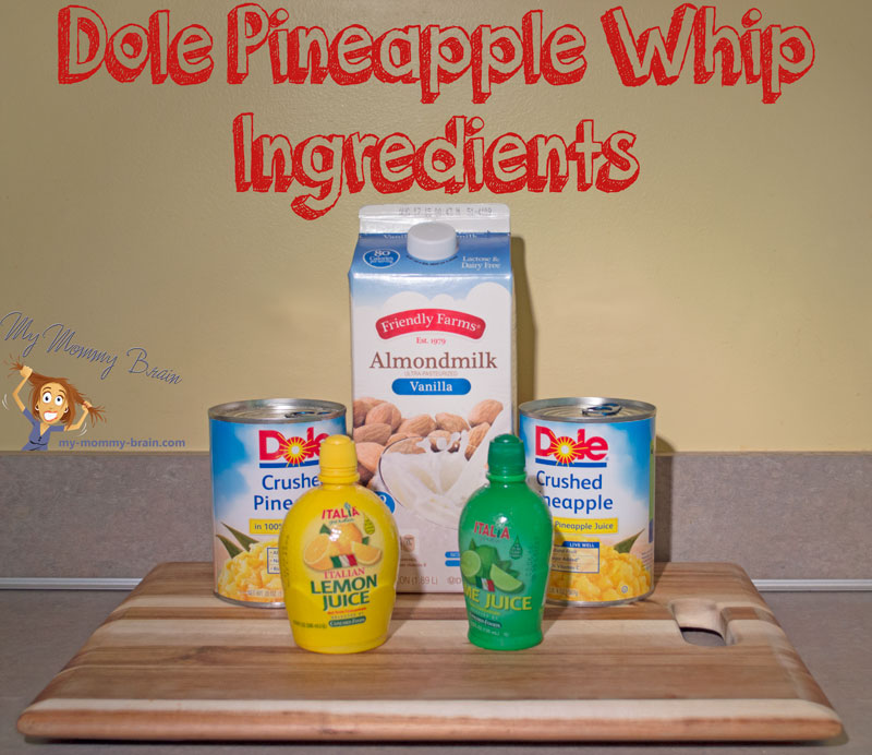 Tasty Tuesday – Dole Pineapple Whip ingredients