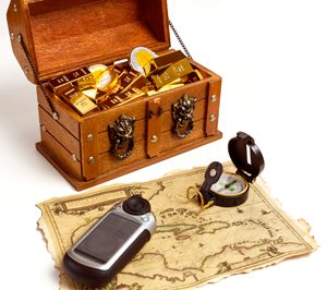 Geocaching is a modern-day treasure hunt, only the treasure map is your smartphone or GPS and the treasure is a box of dollar store trinkets.