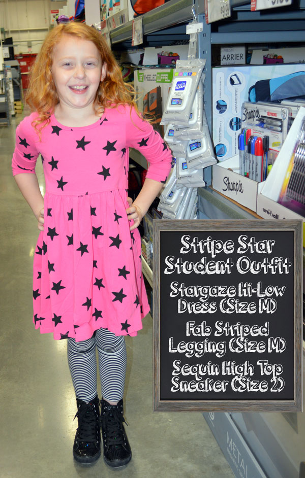 Stripe Star Student Outfit
