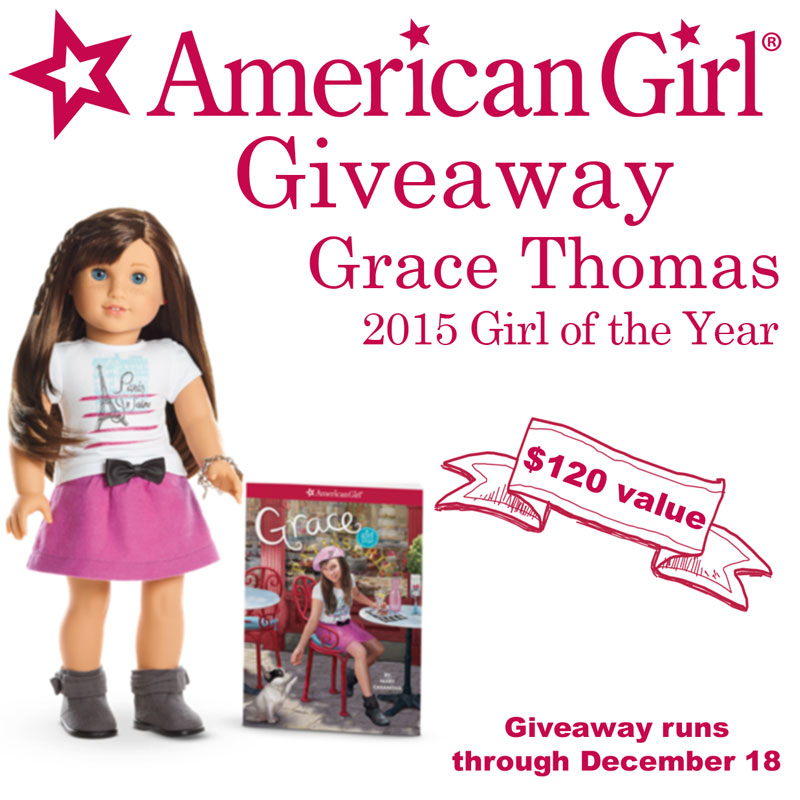 American Girl Doll Giveaway - Grace 2015 Doll of the Year