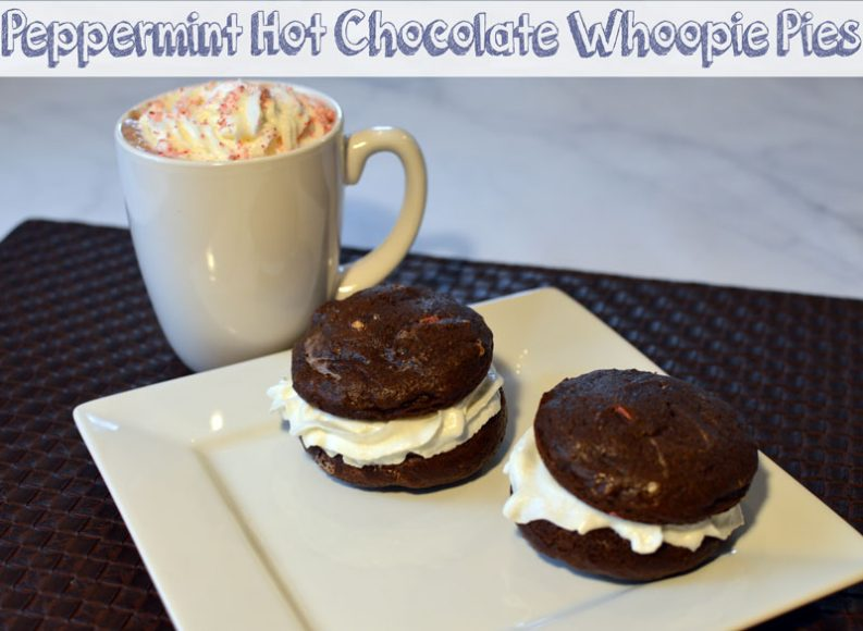 Peppermint Hot Chocolate Whoopie Pies