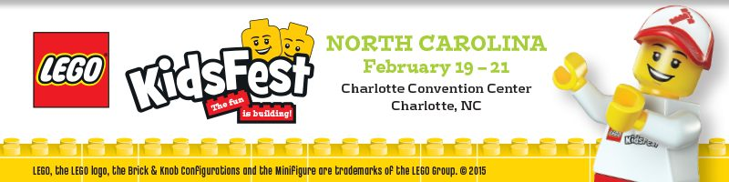 #Giveaway! @LegoKidsFest comes to NC Feb 19-21- #WIN tickets from My Mommy Brain https://lifeofaginger.com/lego-kidsfest-north-carolina-giveaway/ #LegoKidsFest @usfg