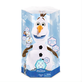Disney Frozen Ultimate Olaf: Enjoy this animated favorite that speaks over 40 phrases, sings, dances, spins and more.  Ages 3 Years+; In-Club or BJs.com. $42.99