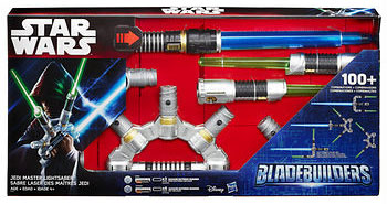 Star Wars Episode VII Jedi Master Lightsaber: For live action fun, this toy features light-up color blades and battle-clashing sounds. Ages 4 Years+; In-Club only. $38.99