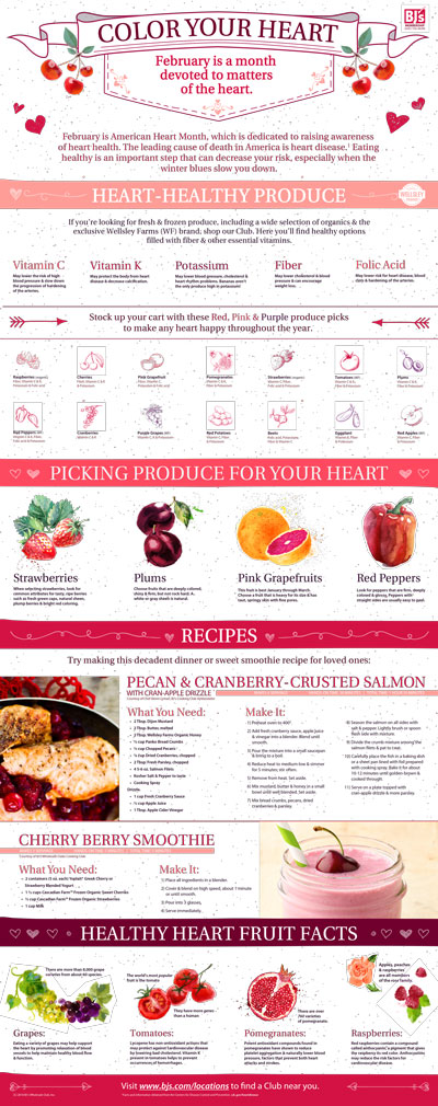 BJ's Color Your Heart Infographic