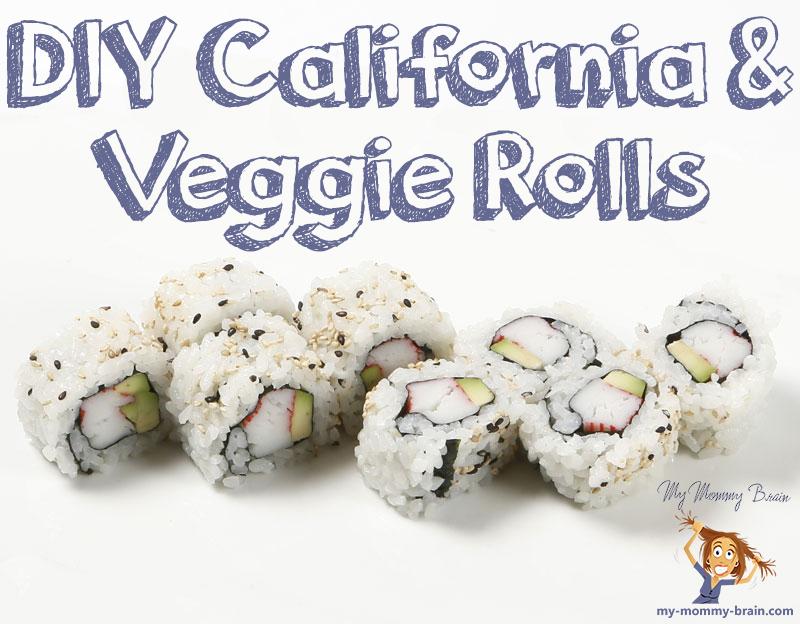DIY California and Vegetable Rolls
