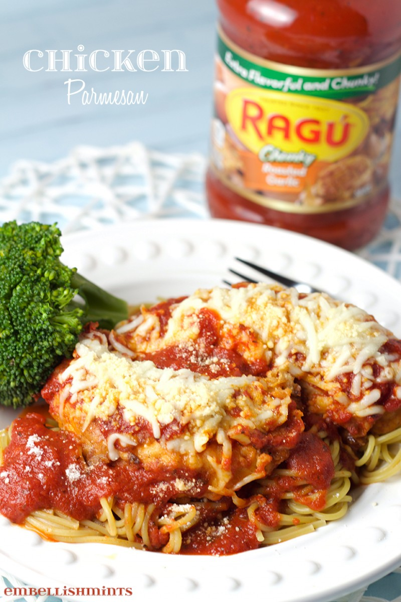 Chicken Parmesan with Ragu Pasta Sauce