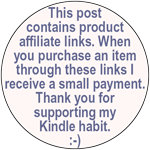 This post contains product affiliate links. When you purchase an item through these links I receive a small payment. Thank you for supporting my Kindle habit.