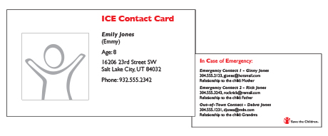 ICE sample card