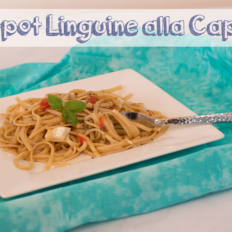 One Pot Linguine alla Caprese