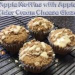 Apple Muffins with Apple Cider Cream Cheese Glaze