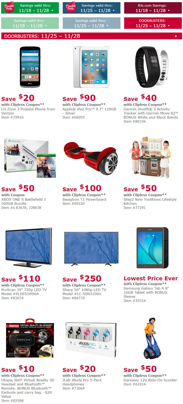 BJ's Black Friday Deals