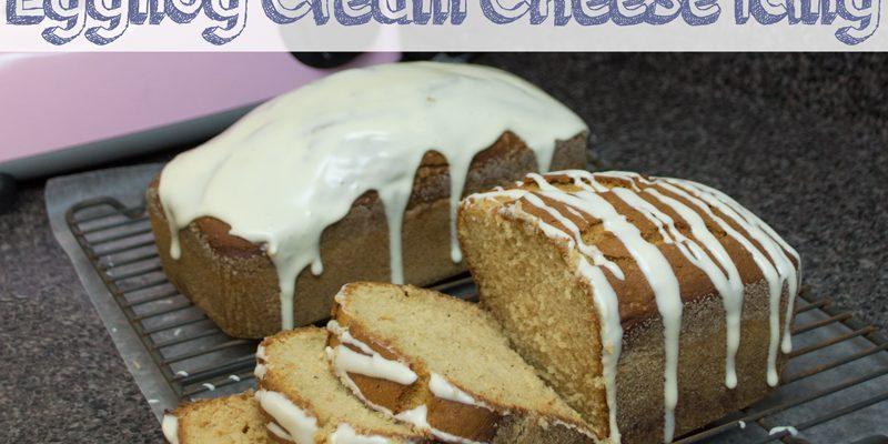 Eggnog Bread with Eggnog Cream Cheese Icing