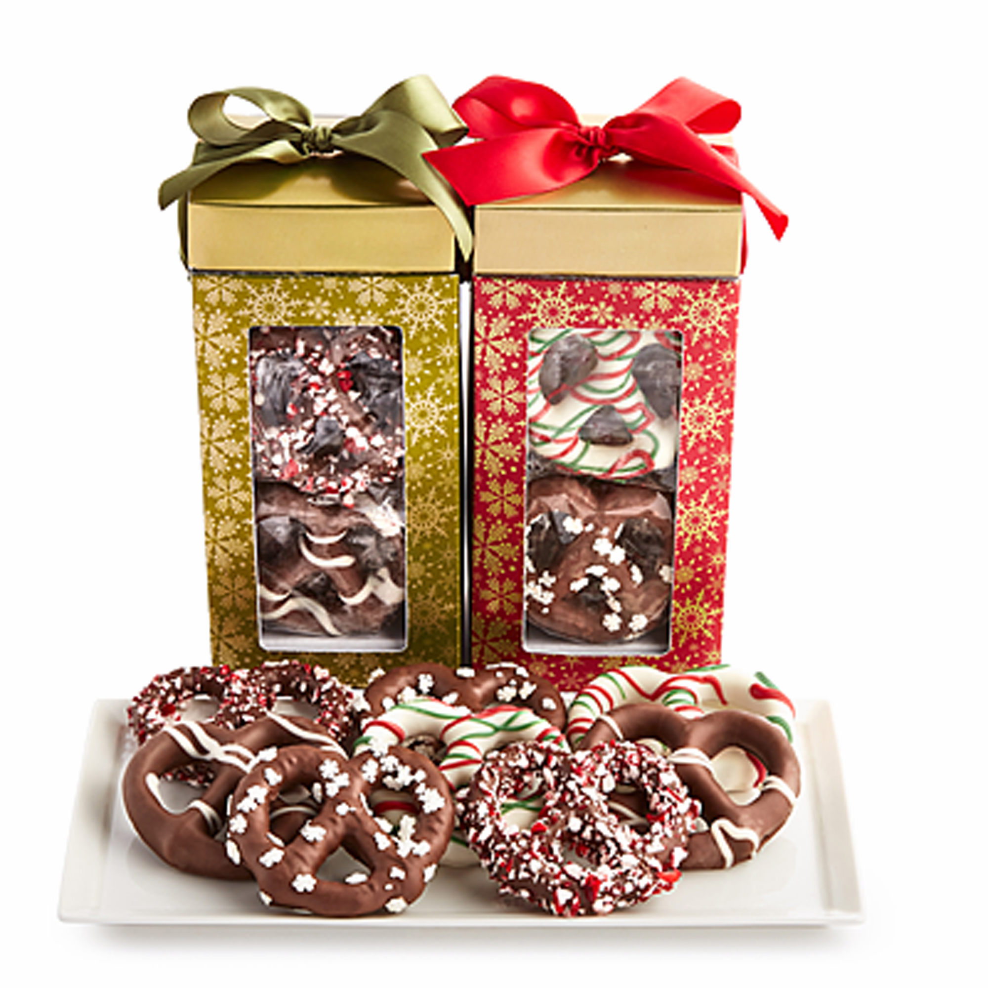 Wellsley Farms Festive Holiday Chocolate-Covered Pretzels