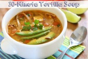 30-Minute Tortilla Soup