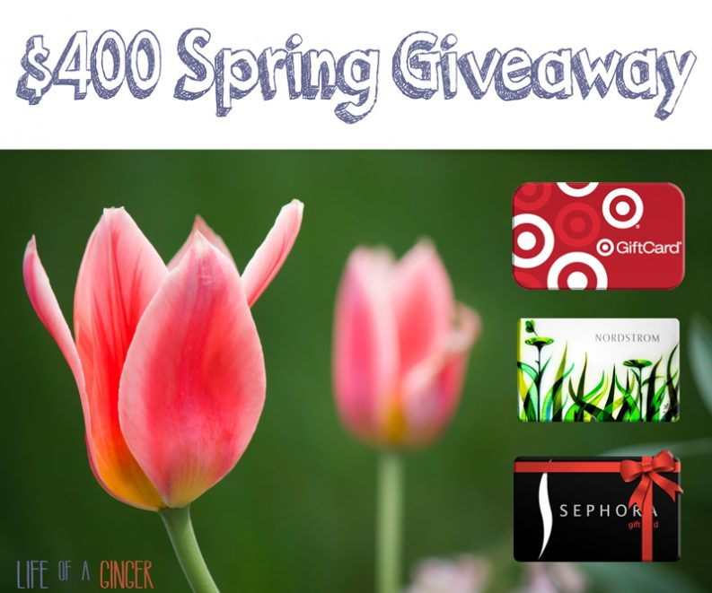 $400 Spring giveaway