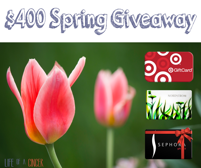Spring Giveaway – Enter to Win $400 Gift Card