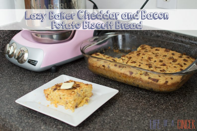 Lazy Baker Cheddar and Bacon Potato Biscuit Bread