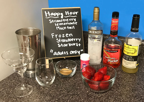 Strawberry Lemonade Mocktail Ingredients