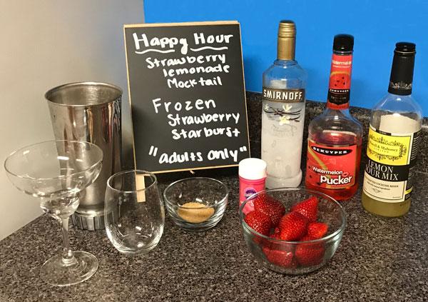 Strawberry Lemonade Mocktail Ingredients
