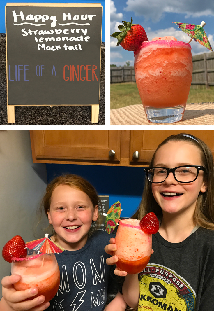 Mocktail recipes for kids are always a favorite! Try this easy and delicious kid-friendly Frozen Strawberry Lemonade that will definitely put the mm in your kids' summer!