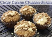 Apple Muffins with Apple Cider Cream Cheese Glaze
