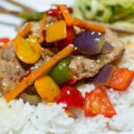 North Carolina Pork & 5 Pepper Stir-fry