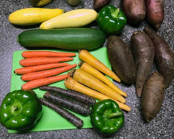 Fresh veggies from The Produce Box