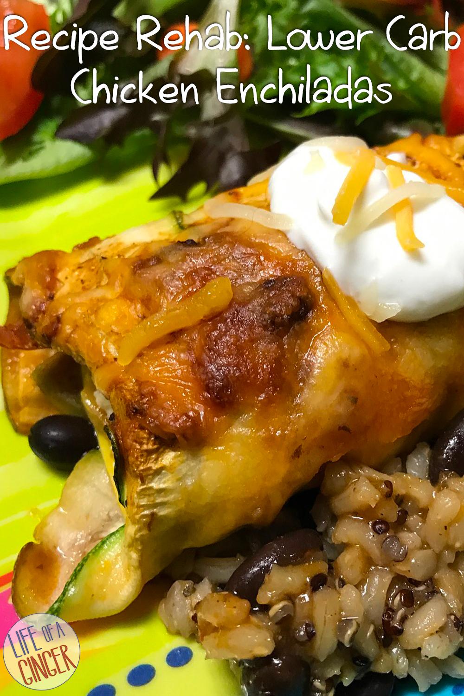 Chicken Enchilada on a plate