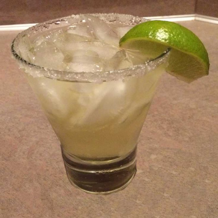 Classic Margarita with a Lime Sugar-Salt Rim