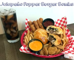 Fresh from the Farmers Market: Jalapeño Popper Burger Bombs made with NC Beef from D's Beef and Bees