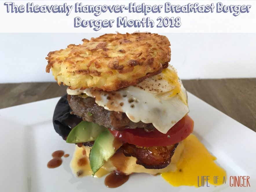 The Heavenly Hangover-Helper Breakfast Burger Burger Month 2018