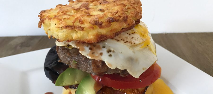 The Heavenly Hangover-Helper Breakfast Burger Burger Month 2018