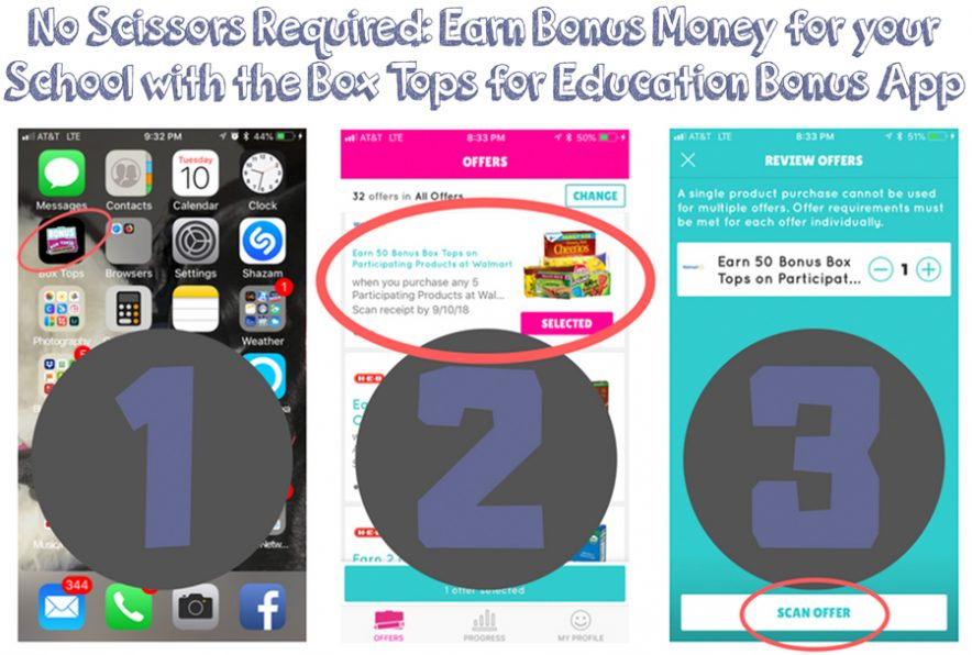 No Scissors Required: Earn Bonus Money for your School with the Box Tops for Education Bonus App