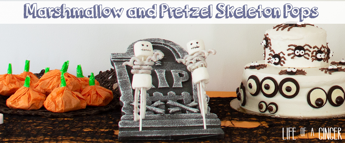 Marshmallow and Pretzel Skeleton Pop