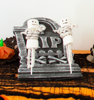 Marshmallow and Pretzel Skeleton Pops