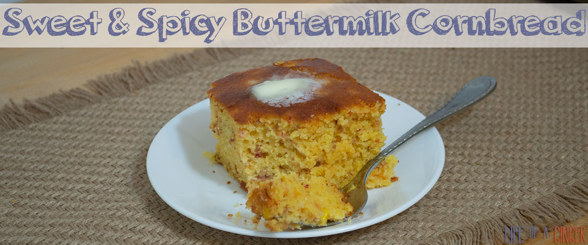 Sweet and Spicy Buttermilk Cornbread