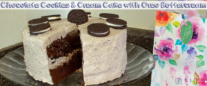Chocolate Cookies and Cream Cake with Oreo Buttercream Frosting