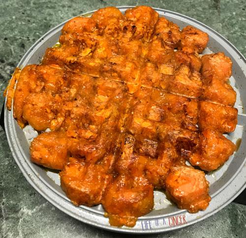 Sweet Potato Tots Waffle Bun
