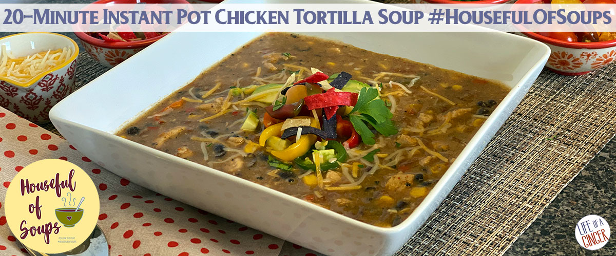 20-min Instant Pot Chicken Tortilla Soup