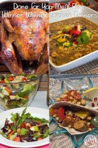 Done for You Meal Plan: Winner Winner Chicken Dinners