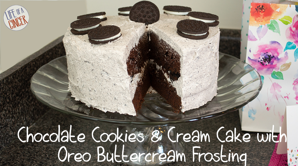 Chocolate Cookies and Cream Cake with Oreo Buttercream